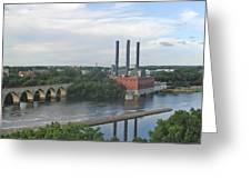 Smokestacks On The Mississippi Greeting Card