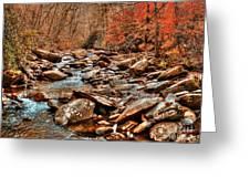 Smokey Mountain Streams And Fall Foilage 2 Greeting Card
