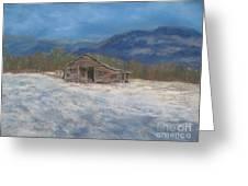 Smokey Mountain Winter Greeting Card