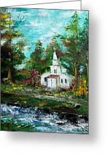 Smokey Mountains Church Greeting Card