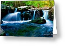 Smokey Mountains Mountain Stream 4 Greeting Card