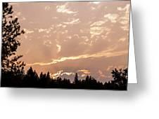 Smokey Skies Sunset Greeting Card