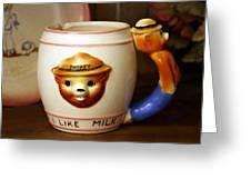 Smokey The Bear Mug Greeting Card