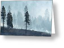 Smokey Trees Greeting Card