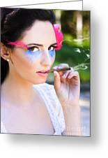 Smoking Glamour Greeting Card