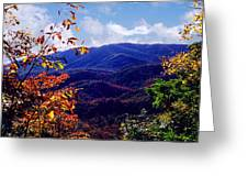 Smoky Mountain Autumn View Greeting Card