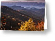 Smoky Mountain Hillsides At Autumn Greeting Card
