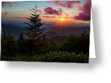 Smoky Mountain Sunset Greeting Card