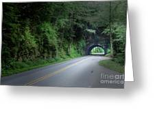 Smoky Mountain Tunnel Greeting Card