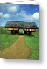 Smoky Mountains Cantilever Barn Greeting Card