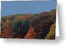 Smoky Mountains In Autumn Greeting Card by DigiArt Diaries by Vicky B Fuller