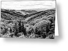 Smoky Mountains In Black And White Greeting Card