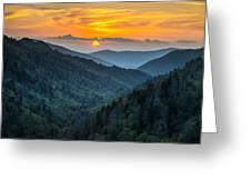 Smoky Mountains Sunset - Great Smoky Mountains Gatlinburg Tn Greeting Card