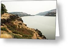 Smoky Sky Gray River Greeting Card