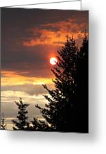 Smoky Sun Greeting Card