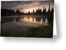 Smoldering Dawn Greeting Card