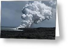 Smoldering Lava Greeting Card