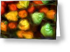 Smooth Peppers Greeting Card