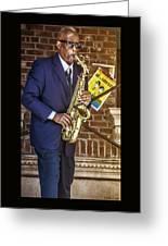Smooth Sax Man Greeting Card