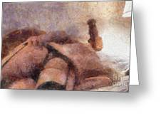 Smother Me By Mary Bassett Greeting Card