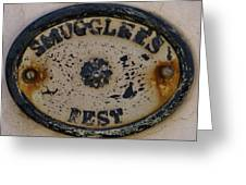 Smugglers Rest Or Rust? Greeting Card