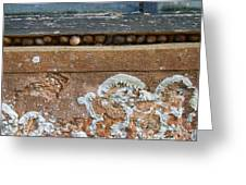 Snails At Home With Lichen Greeting Card