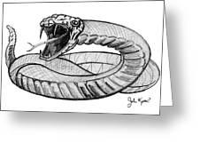 Snake Greeting Card by John Keaton