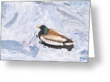 Snake Lake Duck Sketch Greeting Card