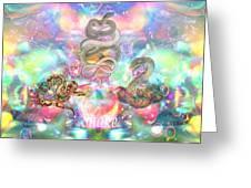 Snake Moon Greeting Card