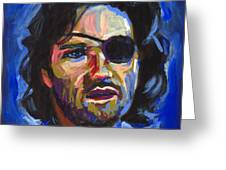 Snake Plissken Greeting Card by Buffalo Bonker