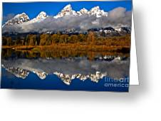 Snake River Fall Reflections Greeting Card