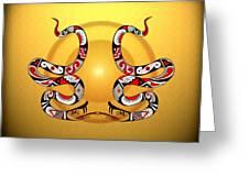 Snakes Homage To Mata Ortiz Greeting Card