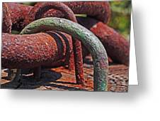 Snaking Rust  Greeting Card