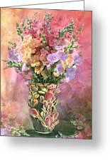 Snapdragons In Snapdragon Vase Greeting Card