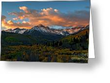 Sneffels Autumn Sunrise Greeting Card