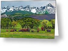 Sneffels Range Spring Acrylic Greeting Card