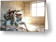 Sniper Crew Greeting Card