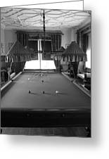 Snooker Room Greeting Card