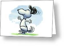 Snoopy T-shirt Greeting Card