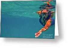Snorkeler 2 Greeting Card by Bette Phelan