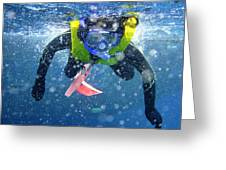 Snorkeling At The Great Barrier Reef Greeting Card