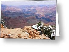 Snow And Canyon - Grand Canyon Greeting Card