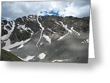 Snow And Rock Greeting Card