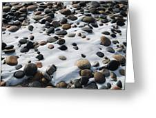 Snow And Stone Greeting Card