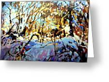 Snow Bank Greeting Card