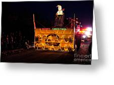 Snow Blower As Float In Shipshewana Light Parade Greeting Card
