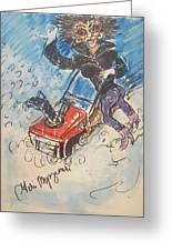 Snow Blowing Greeting Card