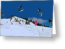 Snow Boarder Greeting Card