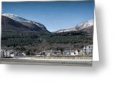 Snow Capped Mourne Mountains Greeting Card