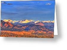 Snow-capped Panorama Of The Rockies Greeting Card